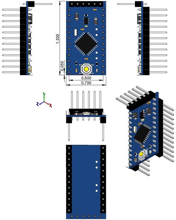 Arduino pro mini pcb d
