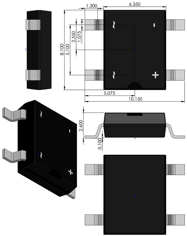 Bridge-Rectifier-Comchip-DFS-SOP510P1015X260-4