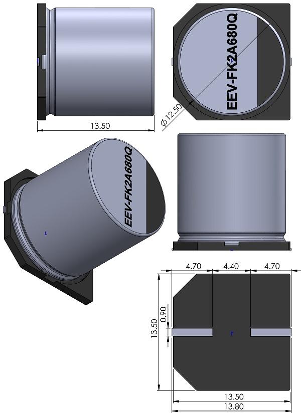 CAPAE1350X1250-EIA-CASE-H13-Panasonic-FK-Series-Type-V-EEV-FK2A680Q-wm