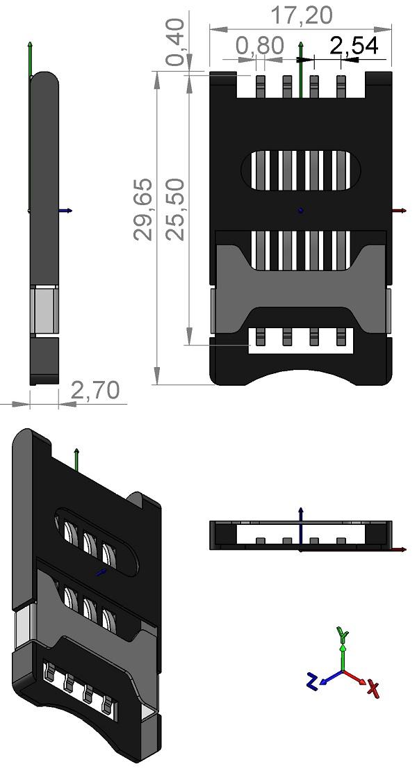 CK-Components-CCM03-3003LFT-Smart-Card-8pins-SM