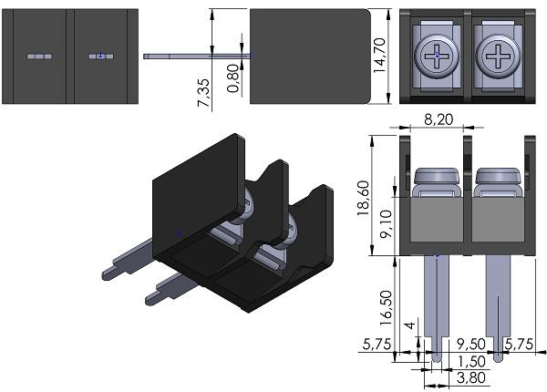 DECA-SwitchLab-T14-BM33-02-Barrier-Block-Screws-9-5mmP