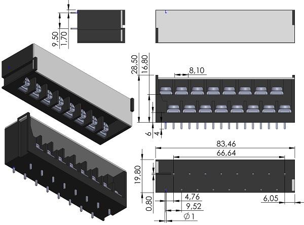 DECA-TD4-2241-8-Barrier-Block-Screws-Dual-Level-9-52mmP