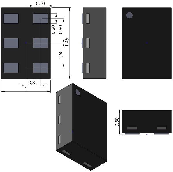 DFN100X145X50-6-JEDEC-MO-252-NXP-SOT886-XSON