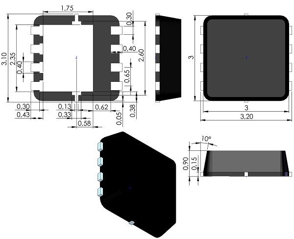 DFN300X300X90-8-Alpha-and-Omega-DFN3x3A-8L-EP1-P-PO-00047-Version-G