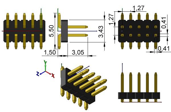 FCI-20021121-00010T4LF-HDRV-2X5-1-27mmP-SM