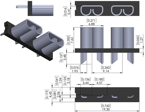 Fuse-Holder-Keystone-3522-2-PC-Auto-Fuse-Socket