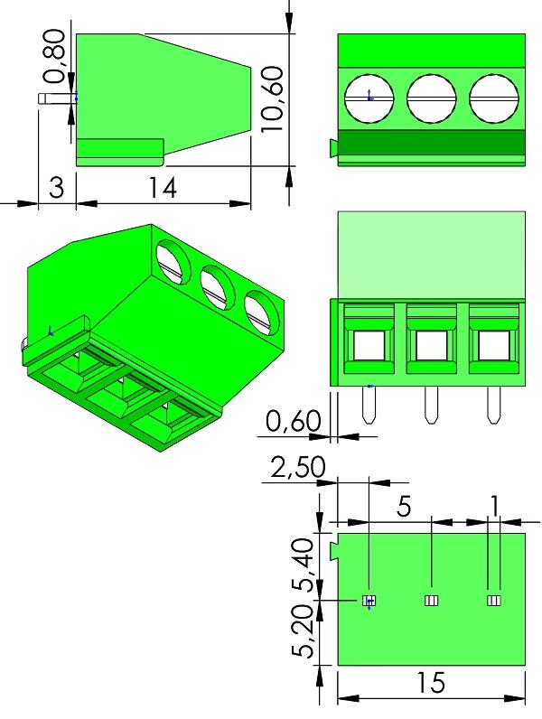 HOW-DER-TS-502-03P-Series-Screw-Terminal-5mmP-V