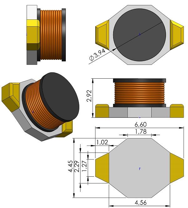 INDP6644X292-Coilcraft-DO1608C-Series