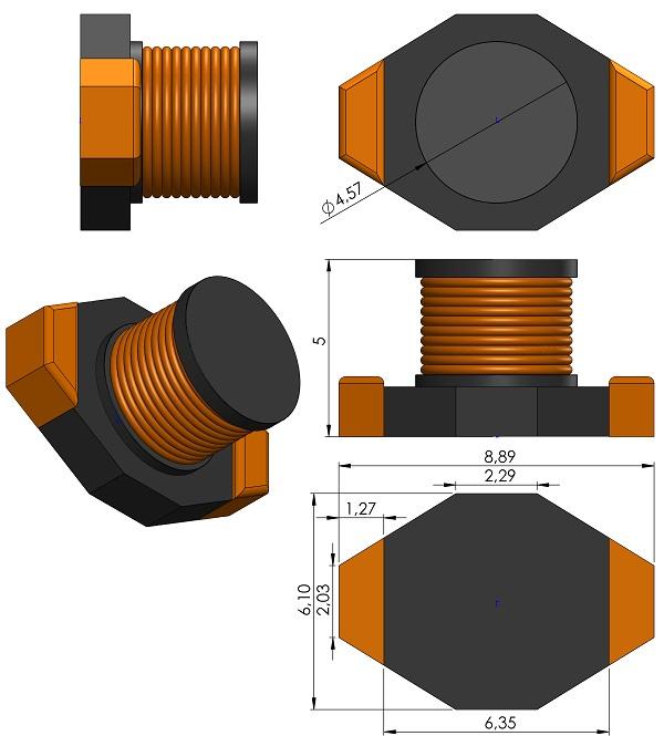 INDP8961X500-Coilcraft-DO1813H-Series