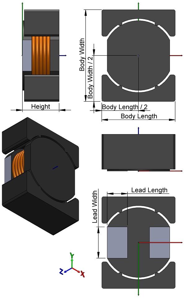 Inductors-Power-TDK-VLF-M-Series-Wound-Ferrite