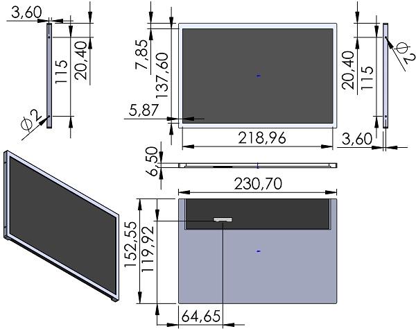 LCD-Innolux-G101ICE-L01-DN0429602-TFT-WXGA-1280x800-LVDS