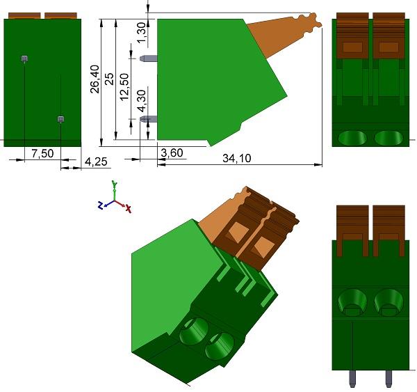 Phoenix-179-Series-PLA-7-5mmP-PCB-Terminal-Block-TH