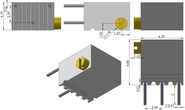 Potentiometers-BI-Technologies-64X-Series