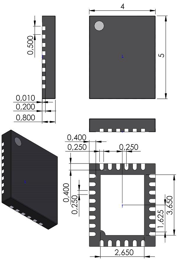 QFN50P500X400X80-28-MO-220-Linear-UFD-28-QFN-4mmX5mm-05-08-1712-Rev-B
