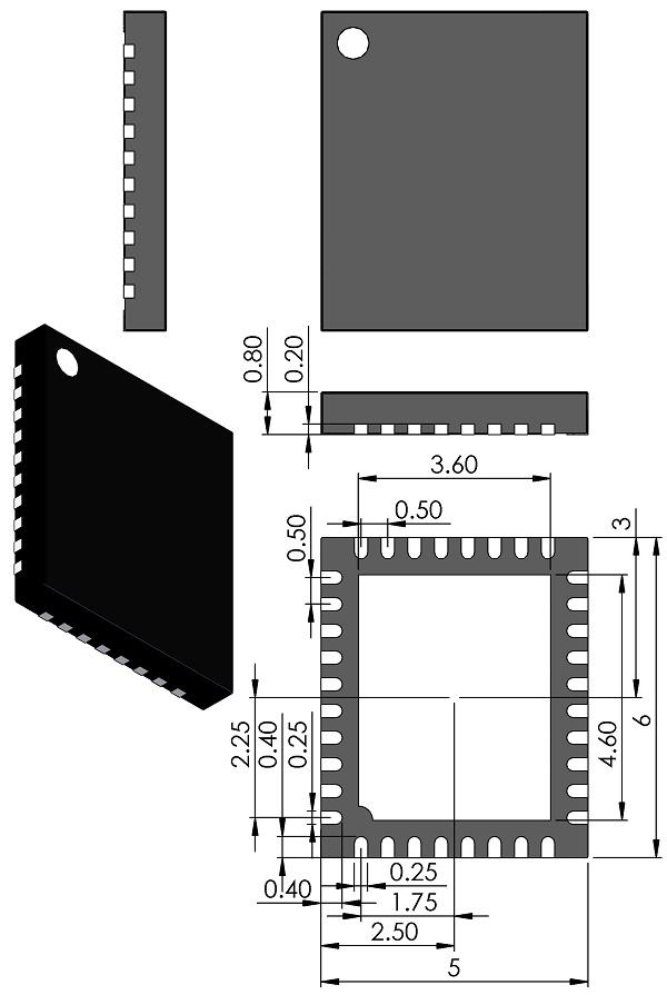 QFN50P600X500X80-36-Linear-UHE-Package-36-Lead-5mmX6mm-Plastic-QFN-dwg-05-08-1876-rev