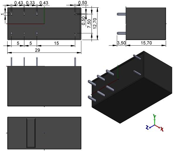 RELAY-OMRON-G5RL-Series-PCB-Power-Low-Profile-TH