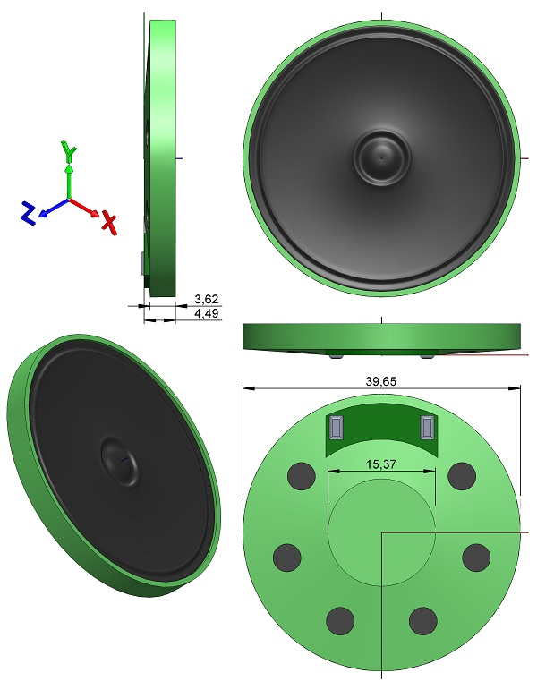 Speakers-Cover-Industrial-Co-COM-10722-Thin-Dinamic-250mW-40mm-Diameter