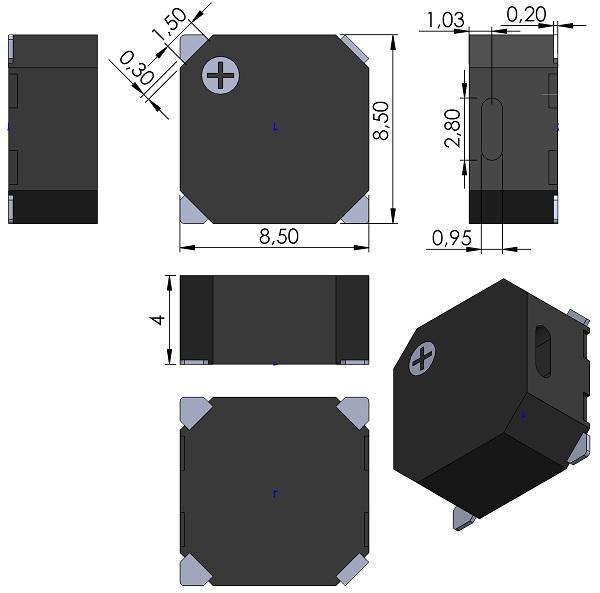 Transducer-Ningbo-Kepo-SMT-G8540B-K10736-dwg-no-OEM10736R-Magnetic