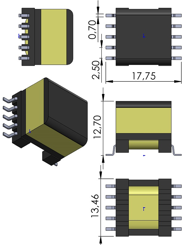 Transformer-Wurth-750310742-WE-PoE-Power-over-Ethernet-Plus-Transformer