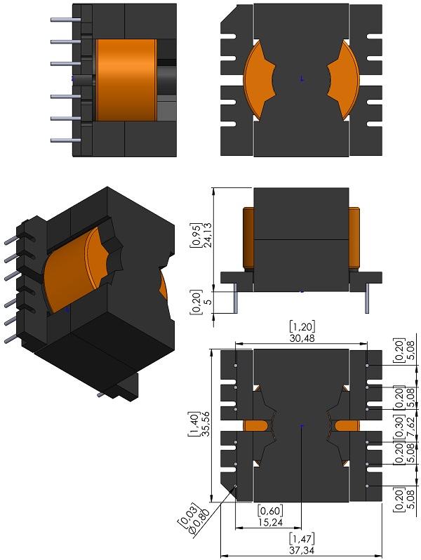 Transformer-Wurth-750316900-TH-V