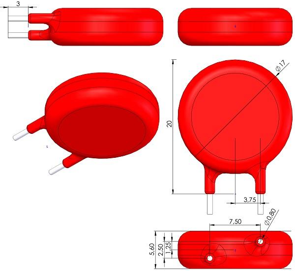 Varistor-Littelfuse-V300LA20AP-VARRB750W80L1700T560H2000-25