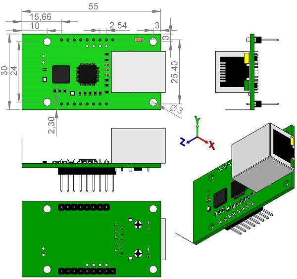 WIZnet-WIZ550S2E-TTL-gateway-RS-232-to-TCP-IP