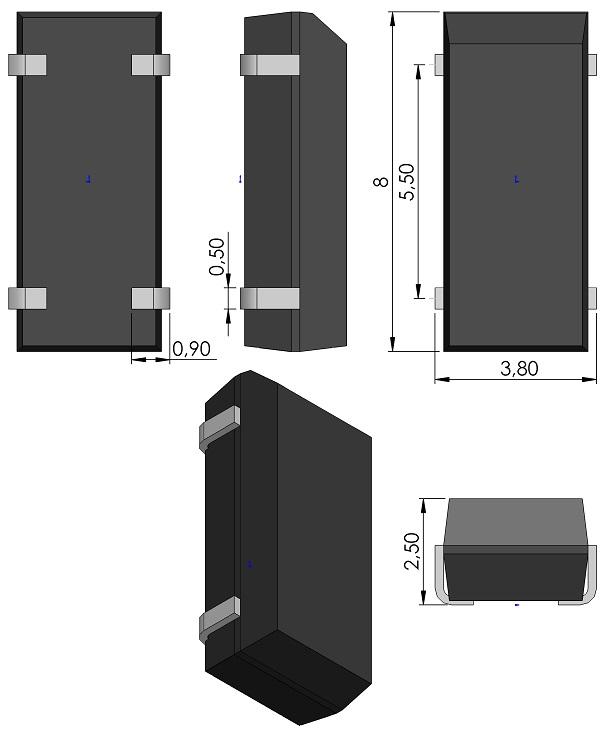 XTALJ800X380X250-4-Abracon-ABS25-Series